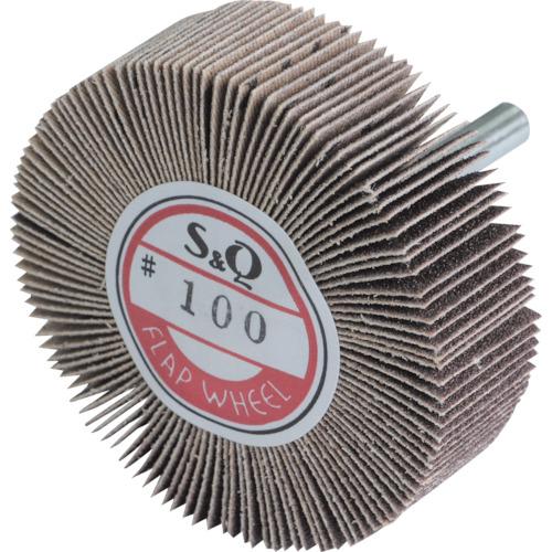 ■MURAKO 軸付フラップ金具無し 外径60幅20軸径6MM 粒度#400 400#《10個入》〔品番:KN6020〕[TR-3263819×10]