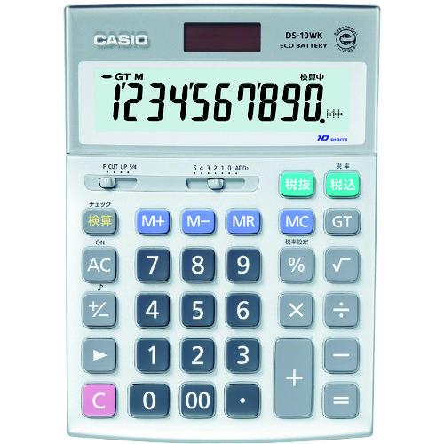 ■カシオ 検算電卓(デスクタイプ)〔品番:DS-10WK〕[TR-3284972]