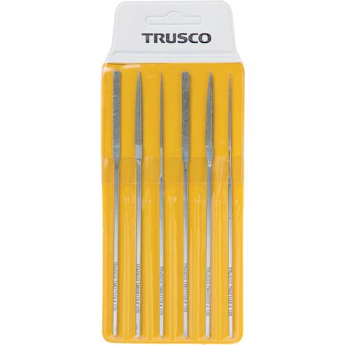 ■TRUSCO ダイヤモンドミニヤスリ 平・半丸・丸 6本組セット〔品番:TMIS1〕[TR-3289061]
