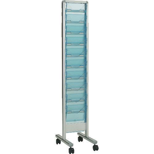 ■TRUSCO パンフレットスタンド A4サイズ対応 垂直1列10段〔品番:TAP-110S〕[TR-3294528]【大型・重量物・個人宅配送不可】