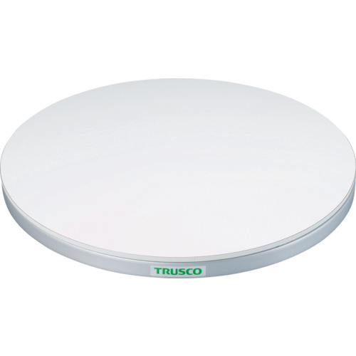 ■TRUSCO 回転台 50KG型 Φ400 ポリ化粧天板  〔品番:TC40-05W〕[TR-3304442]