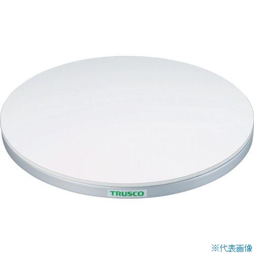 ■TRUSCO 回転台 100KG型 Φ400 ポリ化粧天板  〔品番:TC40-10W〕[TR-3304469]