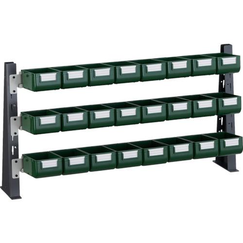 ■TRUSCO UPR型ライトビンラック卓上用 K-10GX24個  〔品番:UPR-ML1803G〕[TR-3304582]【大型・重量物・個人宅配送不可】