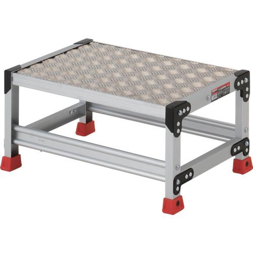 ■TRUSCO 作業用踏台 アルミ製・縞板タイプ 天板寸法600X400XH300  〔品番:TSFC-163〕[TR-3365093]