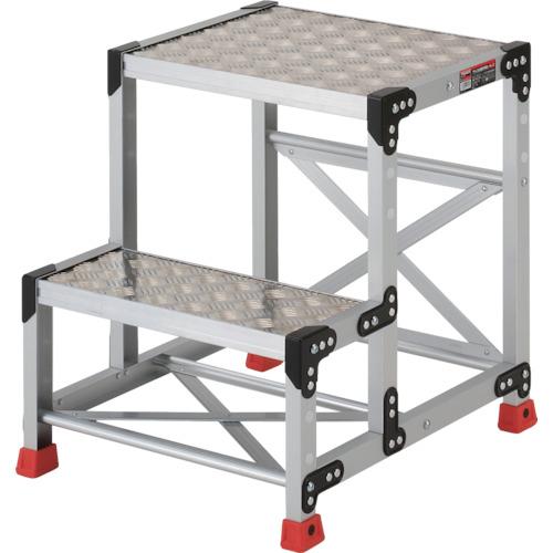 ■TRUSCO 作業用踏台 アルミ製・縞板タイプ 天板寸法500X400XH600  〔品番:TSFC-256〕[TR-3365115]