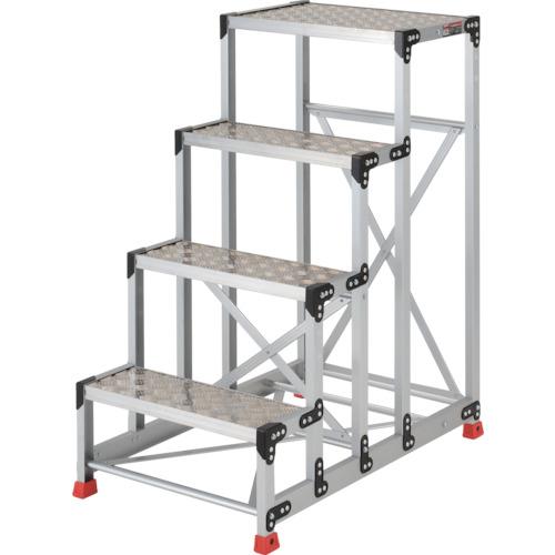 ■TRUSCO 作業用踏台 アルミ製・縞板タイプ 天板寸法600X400X1200  〔品番:TSFC-4612〕[TR-3365158]【大型・重量物・個人宅配送不可】