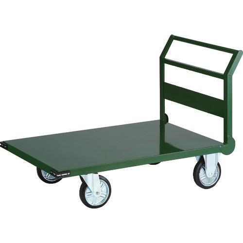 ■TRUSCO 鋼鉄製運搬車 1200X750 Φ200プレス車 緑〔品番:SH-1N〕[TR-3372481]【大型・個人宅配送不可】