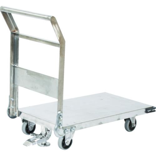 ■TRUSCO ステンレス鋼板製運搬車 固定式 1200X750 S付〔品番:SHS-1S〕[TR-3372839]【重量物・個人宅配送不可】
