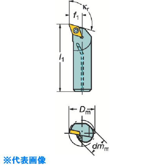 ■サンドビック コロターン107 ポジチップ用ボーリングバイト  〔品番:A16R-SDQCL07-R〕[TR-3391167]