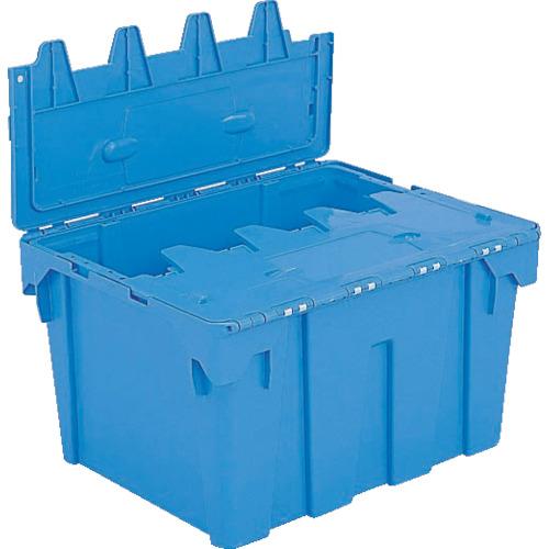 ■サンコー フタ一体型ネスティングコンテナー サンクレットP#80 ブルー  〔品番:SKS-P80-BL〕[TR-3425355]