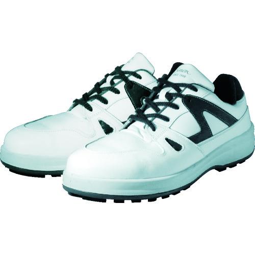 ■シモン 安全靴 短靴 8611白/ブルー 23.5cm〔品番:8611WB-23.5〕[TR-3514099]