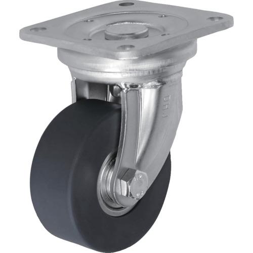 ■シシク 低床超重荷重用キャスター 100径 ユニクロメッキ MCMO車輪〔品番:DHJ-100U-MCMO〕[TR-3535002]