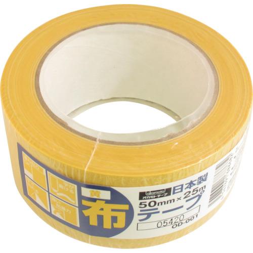 ■オカモト 布テープカラーOD-001 黄《30巻入》〔品番:OD-001-Y〕[TR-3562336×30]