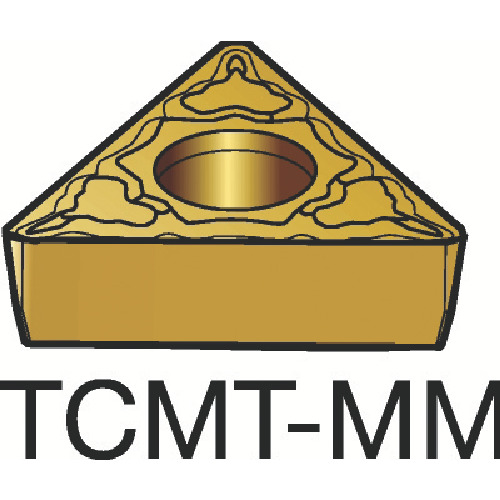 ■サンドビック コロターン107 旋削用ポジ・チップ 1115 1115 10個入 〔品番:TCMT〕[TR-3586189×10]