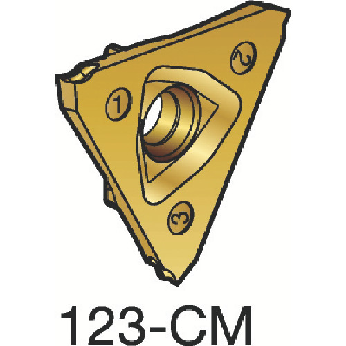 ■サンドビック コロカット3 突切り・溝入れチップ 1125 1125 10個入 〔品番:N123T3-0100-0001-CM〕[TR-3588611×10]