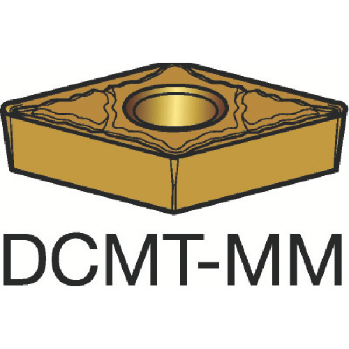 ■サンドビック コロターン107 旋削用ポジ・チップ 1115 1115 10個入 〔品番:DCMT〕[TR-3590682×10]