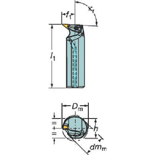 ■サンドビック コロターンRC ネガチップ用ボーリングバイト〔品番:A40T-DVUNL〕[TR-3593061]