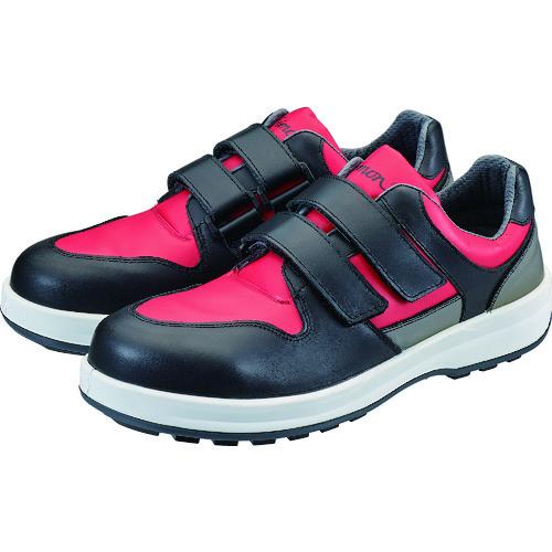 気質アップ シモン 安全靴 ■シモン トリセオシリーズ 短靴 赤 BK-27.0 即納最大半額 TR-3607895 27.0cm 品番:8518RED 黒