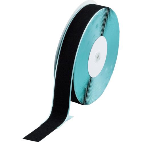 ■TRUSCO マジックテープ[[R下]] 糊付B側 幅50MMX長さ25M 黒  〔品番:TMBN-5025-BK〕[TR-3619451]