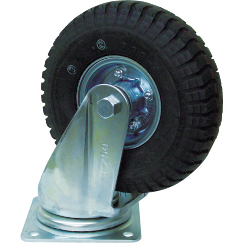 ■ヨドノ 空気入りタイヤ自在車付  〔品番:HC-WJ61/2X2-4P〕[TR-3622126]