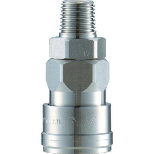 ■ナック クイックカップリング AL40型 ステンレス製 メネジ取付用〔品番:CAL48SM3〕[TR-3643671]