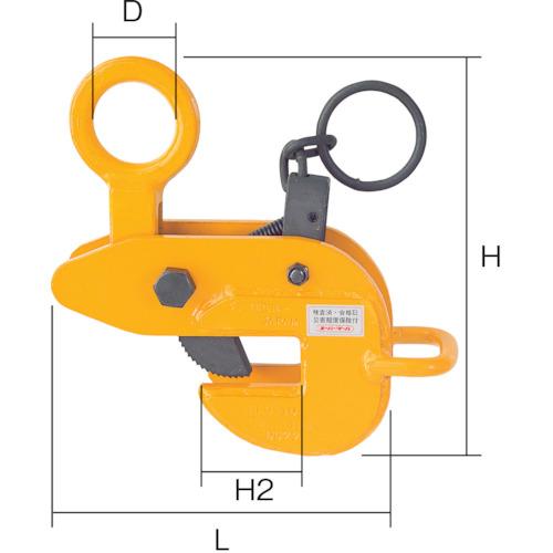 再再販! ?スーパー 横吊クランプ(ロックハンドル式・先割型)   〔品番:HLC1U〕[TR-3683745]:ファーストFACTORY-DIY・工具