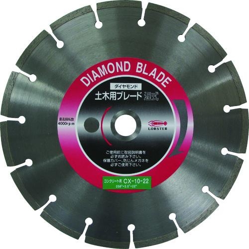 ■エビ ダイヤモンドカッターコンクリート用 10インチ 22パイ  〔品番:CX1022〕[TR-3720853]