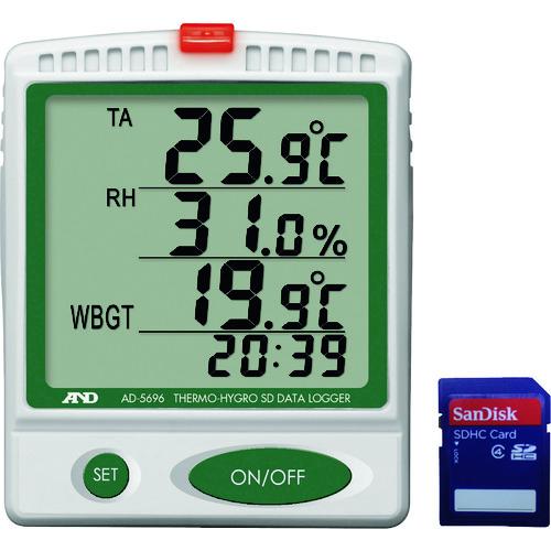 ■A&D デジタル温湿度SDデーターロガー  〔品番:AD5696〕[TR-3761231]