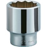 ■KTC 19.0sq.ソケット(十二角) 75mm〔品番:B40-75〕[TR-3834115]