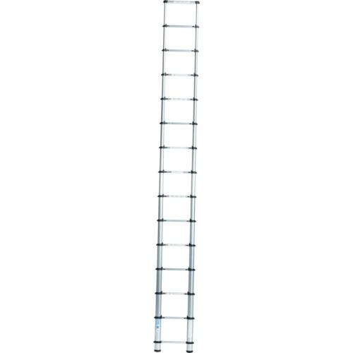 ■アルインコ 伸縮式梯子 0.9~3.8m 最大使用質量100kg〔品番:MSN38〕[TR-3853713]【大型・重量物・個人宅配送不可】