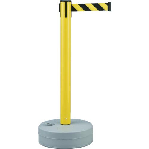 ■緑十字 バリアースタンド(スタート+キャッチ) ポール:黄 ベルト:黄/黒  〔品番:368012〕[TR-3873617]