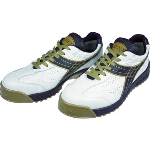 ■ディアドラ DIADORA 安全作業靴 ピーコック 白/黒 25.5cm〔品番:PC12-255〕[TR-3881652]