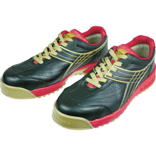 ■ディアドラ DIADORA 安全作業靴 ピーコック 黒 24.5cm〔品番:PC22-245〕[TR-3881725]