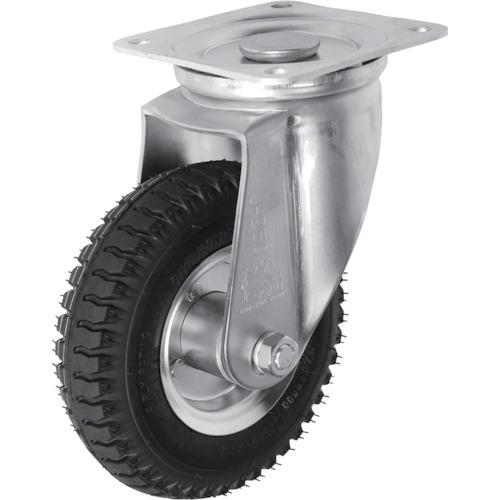 ■シシク 空気入車輪付キャスター 自在 220MM〔品番:AIJ-2.50-4〕[TR-3985431]