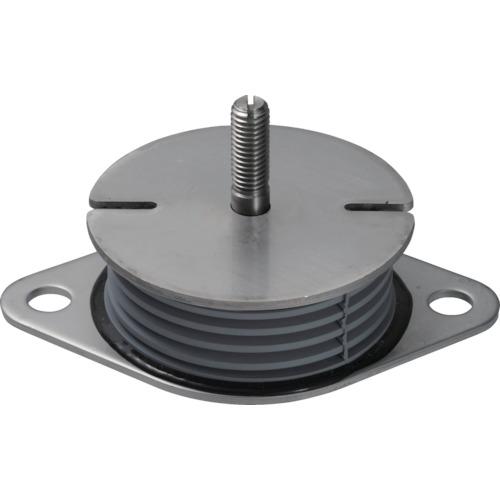 ■Taica 防振材 インシュレーター プレート(ゴム被覆)鉄 30~75kg〔品番:SF-50-STEEL〕[TR-4040082]