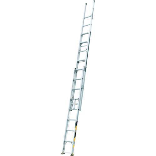 ■ナカオ 3連伸縮梯子「サン3太」  〔品番:ST-7.0〕[TR-4046757]【大型・重量物・個人宅配送不可】