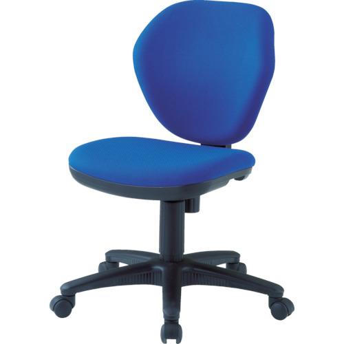 ■TRUSCO オフィスチェア 青〔品番:T-10-B〕[TR-4086392]【大型・重量物】