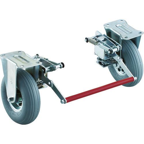 ■TRUSCO ドンキーカート 300番用ブレーキ空気入り固定車輪付〔品番:300NARKB〕[TR-4145267]