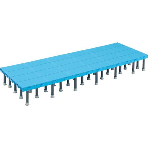 ■TRUSCO 樹脂ステップ高さ調節式600X1200 H200-220  〔品番:DS-6012H〕[TR-4163541]【大型・重量物・個人宅配送不可】
