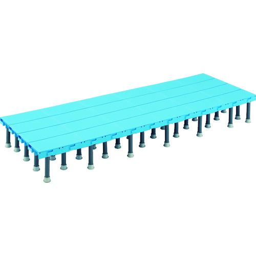 ■TRUSCO 樹脂ステップ高さ調節式600X1800 H200-220  〔品番:DS-6018H〕[TR-4163605]【大型・重量物・個人宅配送不可】