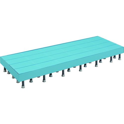 ■TRUSCO 樹脂ステップ高さ調節式側板付600X1800 H200-220  〔品番:DS-6018HG〕[TR-4163613]【大型・重量物・個人宅配送不可】