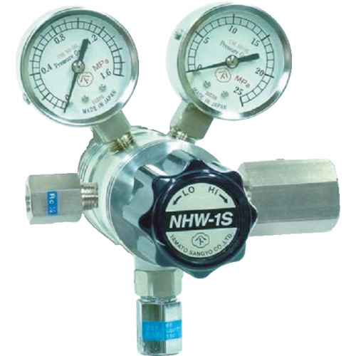 ■ヤマト 分析機用フィン付二段圧力調整器 NHW-1S  〔品番:NHW1STRCCO2〕[TR-4344839]【個人宅配送不可】