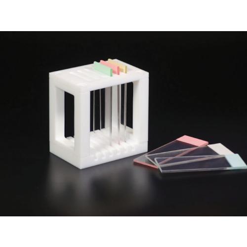 PTFE 73×50×75〔品番:NR1362-002〕[TR-4404653][送料別途見積り][法人・事業所限定][メーカー取寄] スライドグラス用染色バット掛 ■フロンケミカル