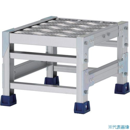 ■アルインコ 作業台(天板縞板タイプ)1段 天板寸法300×400MM高0.25M〔品番:CSBC123S〕[TR-4439716]