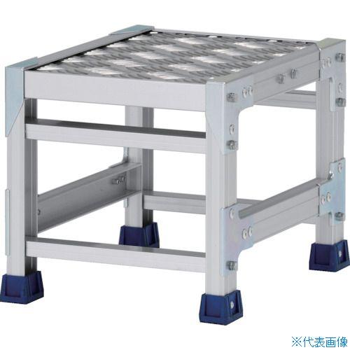 ■アルインコ 作業台(天板縞板タイプ)1段 天板寸法300×400MM 高0.3M〔品番:CSBC133S〕[TR-4439791]