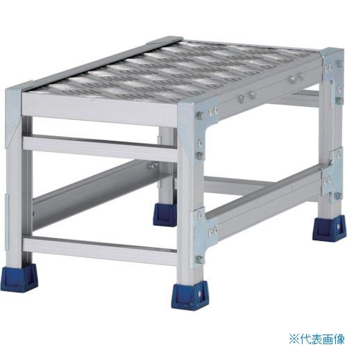 ■アルインコ 作業台(天板縞板タイプ)1段 天板寸法300×600MM 高0.3M〔品番:CSBC133WS〕[TR-4439805]