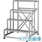 ■アルインコ 作業台(天板縞板タイプ)4段  〔品番:CSBC4128S〕[TR-4439970]【大型・重量物・個人宅配送不可】