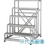 ■アルインコ 作業台(天板縞板タイプ)5段  〔品番:CSBC5151S〕[TR-4439988]【大型・重量物・個人宅配送不可】