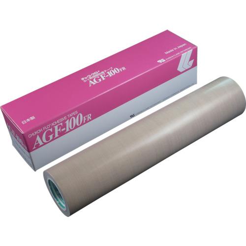 ■チューコーフロー フッ素樹脂(テフロンPTFE製)粘着テープ AGF100FR 0.18t×300w×10m〔品番:AGF100FR-18X300〕[TR-4494326]