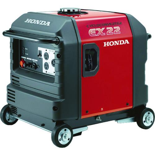 ■HONDA 防音型発電機 2.2kVA(交流専用)車輪付〔品番:EX22K1JNA3〕[TR-4515242]【大型・個人宅配送不可】